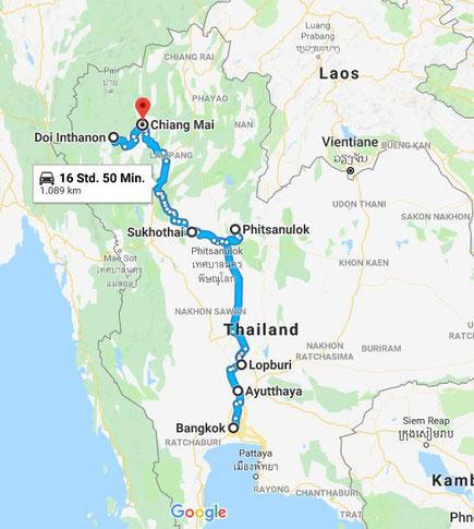 Roadtrip & Tauchen in Thailand - Meine Reiseroute - stefanie ...