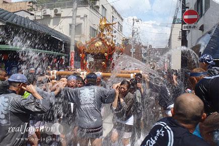 2015年度,深川神明宮例大祭, 公式写真集, 本祭り, 宮神輿, 神輿連合渡御, 水掛祭り