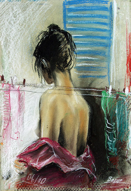 Weiblicher Akt Frauenportrait gemalt von Jopie Bopp