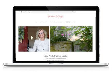 Webseite für Therapeutin Irmtraut Witte