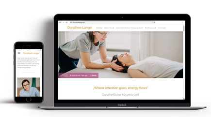 Webseite für Körpertherapeutin Dorothee Lange