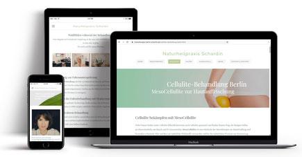 Webseite für Naturkosmetikerin