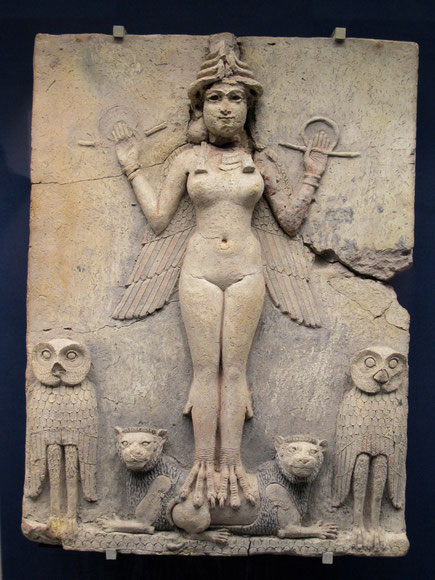 La dea fenicia Astarte, Ishtar per i Babilonesi, Tanith per i cartaginesi e Al-Lat per i Nabatei