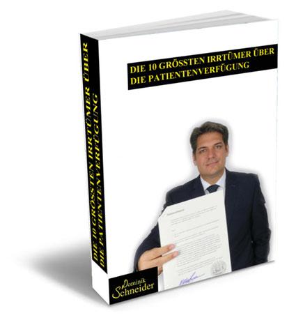 Kostenloses E-Book bzw. Ratgeber zur Patientenverfügung und zur Vorsorgevollmacht
