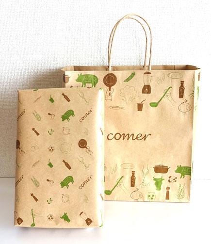 紙袋・包装紙 イラスト