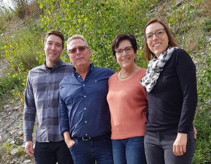 Frédéric, Christian, Lisiane et Justine