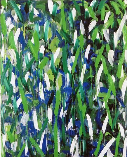 峠P.3(黄緑)   oil on canvas 162×130.3cm