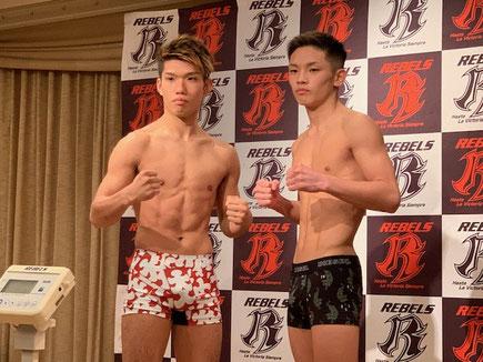 ▲ストラッグル所属 老沼隆斗(左)
