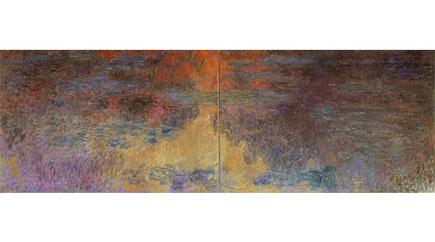 チューリッヒ美術館 クロード・モネ <睡蓮の池 夕暮れ> 1916-22 油彩 200*600cm