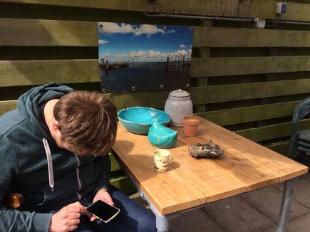 Broadway 2016 Texel met Tjeerd Gerritsen en uitzicht op zee.