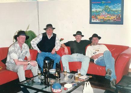 Ben, Joop, Ruud en Wens