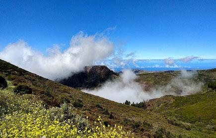 Landschaft mit Wolken auf La Gomera