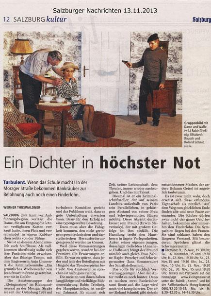 Salzburger Nachrichten vom 13.11.2013
