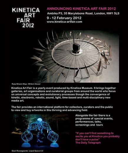 Kinetica Art Fair 2012, London