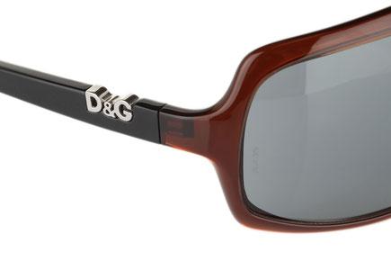 Occhiali da sole Dolce & Gabbana Modello: 8001 Colore: 521/87 marrone. Colore lenti: grigio. Calibro 72-8. Forma: squadrato. Materiale: plastica. Protezione UV 100%