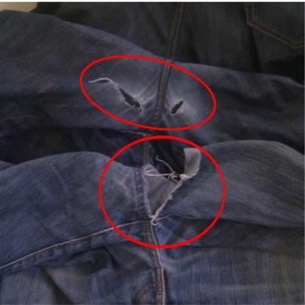 ズボンの傷み