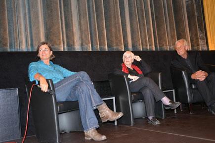 Mit Esther Bejarano und Rolf Becker bei Filmgespräch