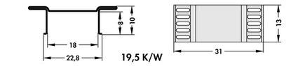 FK244 13 D3 PAK Fischer 表面実装用ヒートシンク