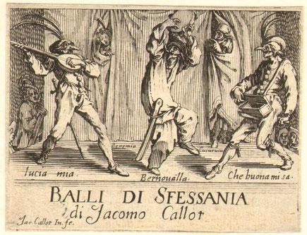 Callot: Balli di Sfessania. Titelblatt