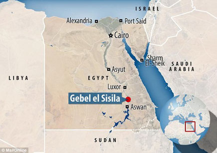 Localisation du site de Gebel el Silsileh, en Egypte