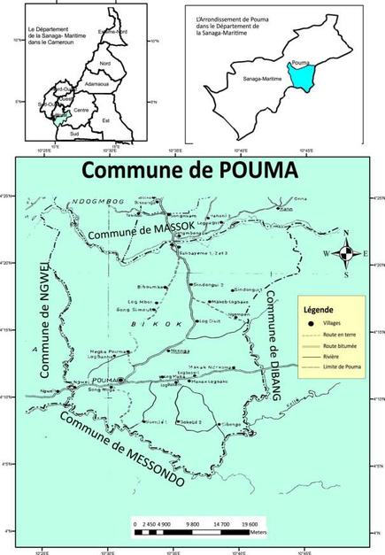 Localisation de la Commune de Pouma