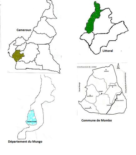 Carte de localisation de la commune de Mombo