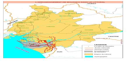 Localisation de Mouanko dans la Région du Littoral