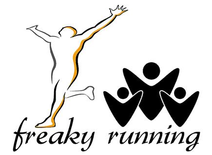 freaky routine, freaky running logo, laufender Mensch, jubelnde Menschen