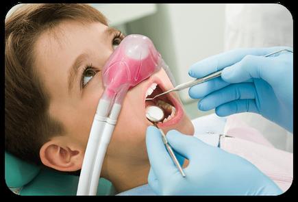 Ängstliche Kinder können mit Lachgas beruhigt werden.