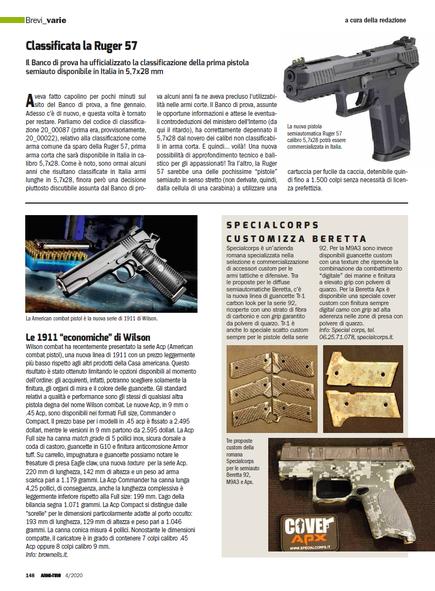 Recensione delle Cover Apx su Armi e Tiro di Aprile 2020