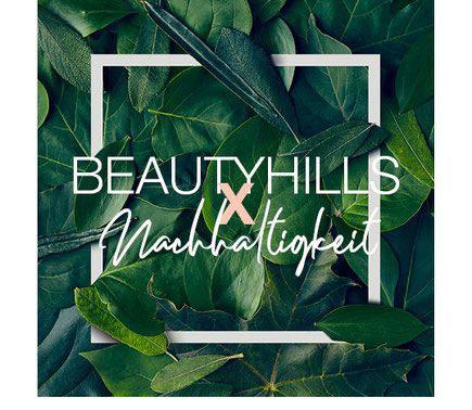 Beauty Hills, Kosmetik, Umweltschutz, Nachhaltigkeit, Vermeidung von Plastik, grüne Blätter, Natur