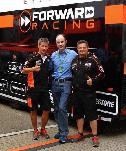 Treffen mit Tex Geissler und Sergio Verbena vor dem Team Truck
