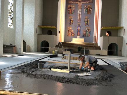 Terrazzoherstellung Frauenfriedenskirche
