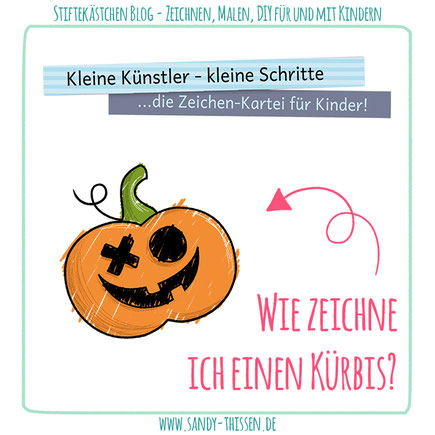 Kürbis zeichnen lernen Herbst Halloween Kita Schule