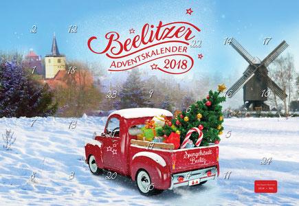 Der Beelitzer Adventskalender 2018. Gestaltung: Werbestudio Zum weissen Rössl