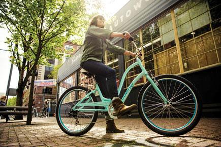 Die stylischen e-Bikes von Electra können Sie in der e-motion e-Bike Welt in Bremen kostenlos probefahren.