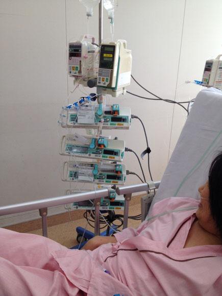 植え込み型補助人工心臓(jarvik2000)の装着手術を受ける二日前の様子
