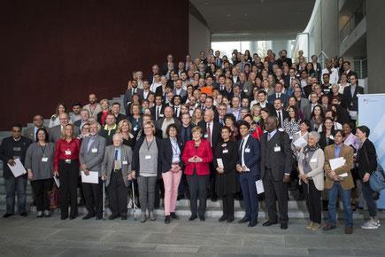 Rund 140 Ehrenamtliche empfing die Kanzlerin heute persönlich. Foto: Bundesregierung/Bergmann