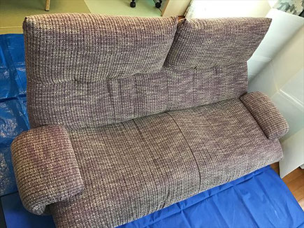 墨田区で布製ソファークリーニング