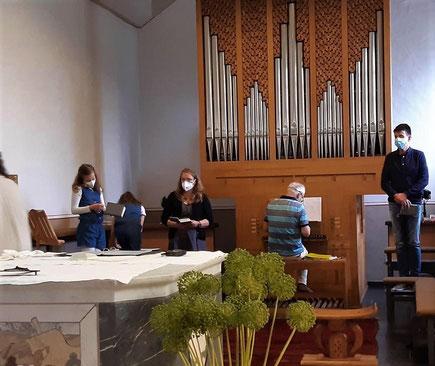 Gottesdienst für Chormitglieder Kapelle Schleckheim Juli 2021 Corona Hygienevorschriften
