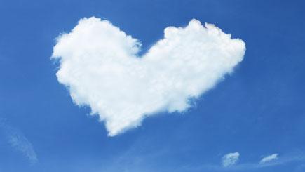 Wolke in Herzform