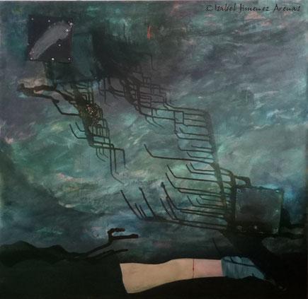 La Huella, óleo sobre lienzo, 130 x 135 cm.