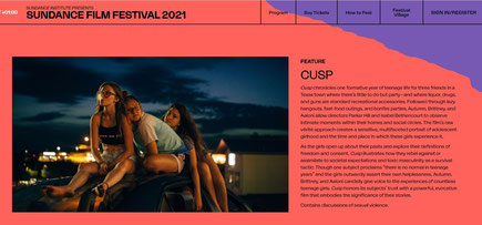 Cusp the film, Sundance 2021