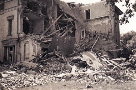 Zerstörtes Wohnhaus in der Hörsterstraße