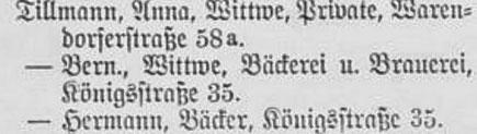 Einwohnerbuch aus dem Jahr 1894