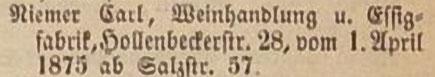 Einwohnerbuch 1875