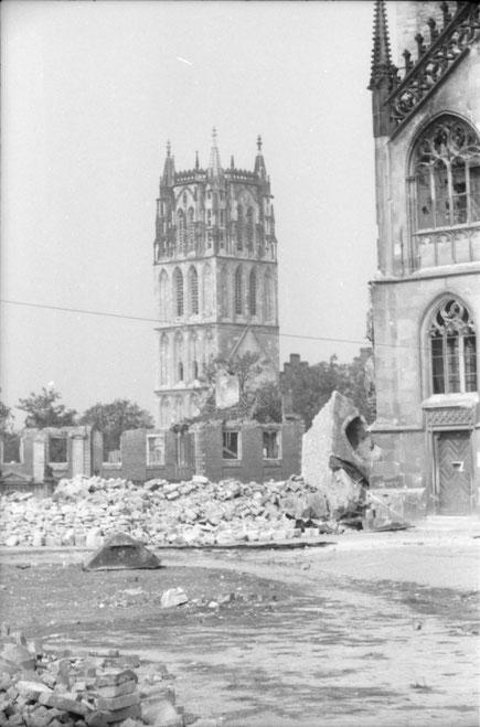 Blick auf Überwasser Sommer 1945 - Foto Carl Pohlschmidt ULB Münster