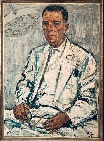 Großvater Gerhard Graumann - Münsteraner Maler Carl Busch 1969  - EVK  (OP -Lampe) ?