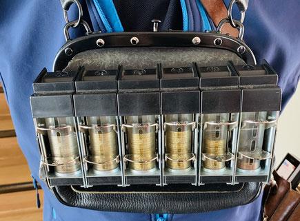 Geldwechsler mit 6 Schächten für Euromünzen - Foto Henning Stoffers