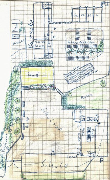 Matthias-Claudius-Schule mit der Baracke der Karl-Wagenfeld-Schule